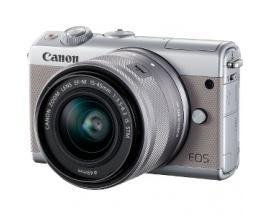 "Cámara sin espejo con objetivo Canon EOS M100 - 24,2 Megapíxel - 15 mm-45 mm - Gris - 7,6 cm (3"") Pantalla Táctil LCD - 16:9"