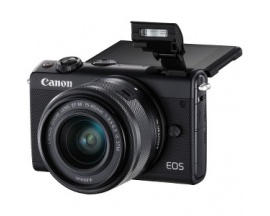 "Cámara sin espejo con objetivo Canon EOS M100 - 24,2 Megapíxel - 15 mm-45 mm - Negro - 7,6 cm (3"") Pantalla Táctil LCD - 16:"