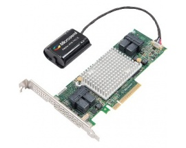 Controlador SAS Microsemi Adaptec - 12Gb/s SAS - PCI Express 3.0 x8 - Tarjeta Plug-in - Compatibilidad con RAID - 0, 1, 10, 1E,