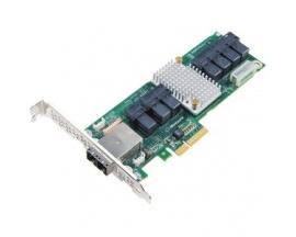 Tarjeta de Extensión para Contolador SAS Microsemi Adaptec 82885T - 12Gb/s SAS - PCI Express x4 - Tarjeta Plug-in - 36 Total pue