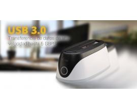"""i-tec USB 3.0 ADVANCE Base de Conexión para disco duro SATA de 3.5"""" y 2.5"""" con el botón de BackUp."""