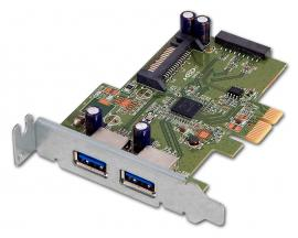 - PCIe USB 3.0 PoE Low Profile Tarjeta controladora PCI Express 2 Puertos USB 3.0 PoE