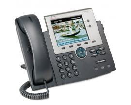 CISCO IP PHONE 7945G SCCP y SIP - 2 Líneas - Pantalla Color TFT 5'' (12,5 cm) - Toma ordenador Ethernet Gigabit - Toma Auricular