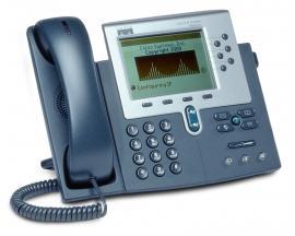 CISCO IP PHONE 7961G SCCP, MGCP, SCCP, SIP - 6 Líneas - Pantalla Monocromo - 2 puertos Ethernet PoE - 1 puerto Gigabit Ethernet
