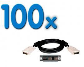 - Cable DVI-D M/M Dual Link Pack 100 Unidades: Cable DVI-D M/M Dual Link 1,8 mts