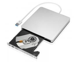 - DVD-RW Externa USB Plata   Grabadora DVD-RW USB Color Plateado