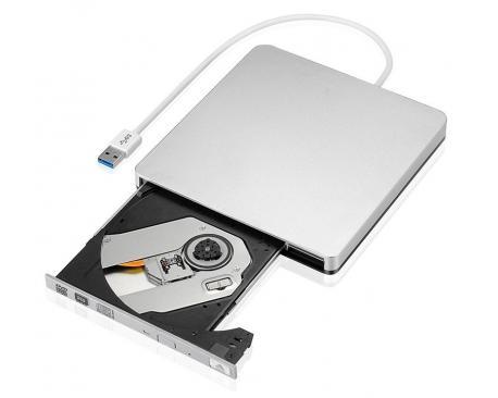 DVD-RW Externa USB Plata - Imagen 1