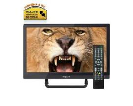 "Tv nevir 16"" led hd ready/ nvr-7412-16hd-n/ negro/ tdt/ hdmi/ incluye adaptador coche"