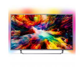 "Tv philips 55"" led 4k uhd/ 55pus7303 (2018)/ hdr plus / ambilight x3/ quad core/ ultraplano/ smart tv/ 4 hdmi/ 2 usb/ dvb-t/t2/t"