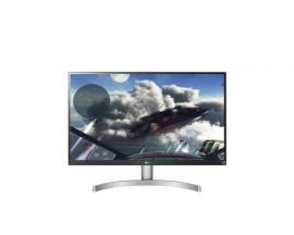 "LG 27UK600-W 27"" 4K Ultra HD LED Plana Negro, Plata, Blanco pantalla para PC LED display - Imagen 1"