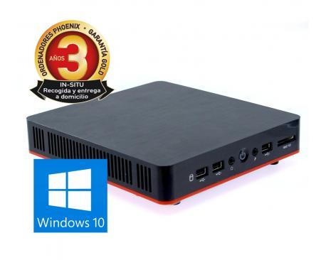 Ordenador phoenix compact intel i3 4gb ddr3 240gb ssd wifi vesa 100x100 windows 10 - Imagen 1