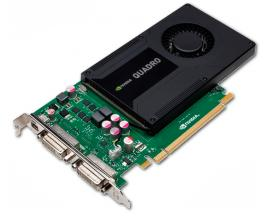 Nvidia Quadro K2000D 2Gb. PCI-E   3840 x 2160 dpi - 2 Gb. RAM GDDR5 - 2xDVI, 1x Mini DisplayPort - PCI Express X16