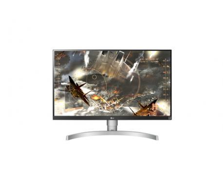 "LG 27UK650-W 27"" 4K Ultra HD LED Plana Negro, Plata, Blanco pantalla para PC LED display - Imagen 1"