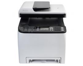 Multifuncion ricoh laser color spc250sf fax/ a4/ 20ppm/ 256mb/ usb/ red/ wifi/ adf 35 hojas/ duplex impresion/ compatible con ma