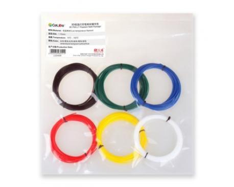 Pack filamento colido pen lt pla blanco/rojo/azul/verde/amarillo - Imagen 1