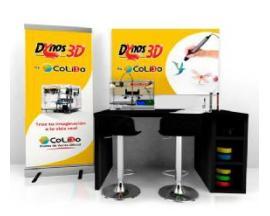 Rincon 3d colido personalizado dynos mobiliario negro merchan 1 impresora 2.0 lapiz 3dformacioncampaña comunicacion