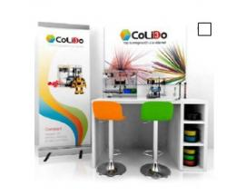 Rincon 3d colido mobiliario merchan 2 maquinas lapiz 3dformacioncampaña comunicacion