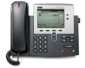 CISCO IP PHONE 7942GMGCP, SCCP y SIP - 2 Líneas - Pantalla Monocromo - Toma ordenador Ethernet 10/100 Base-T - Toma Auricula