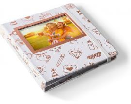 HP Sprocket Oro, Blanco álbum de foto y protector - Imagen 1