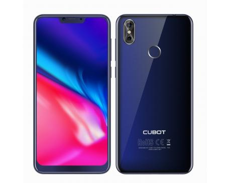 """Telefono movil smartphone cubot p20 azul/ 6.18""""/ 64gb rom/ 4gb ram/ 20+2mpx-13mpx/ octa core/ dual sim/ 4g/ lector de huella - I"""