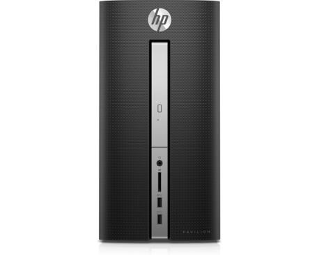 HP Pavilion 570-p500ns 3,1 GHz AMD A A8-9600 Negro, Plata Escritorio PC - Imagen 1