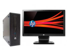 HP 700 G1 SFF i5 + TFT 22'' Intel Core i5 4590 3.3 GHz. · 8 Gb. DDR3 RAM · 240 Gb. SSD · 500 Gb. SATA · COA Windows 7 Pro actual