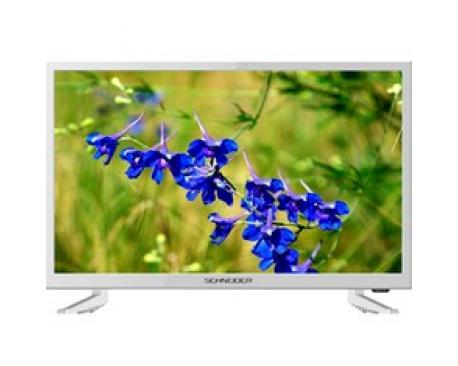 "Tv schneider 24"" led hd blanco/ hdmi/ usb/ vga/ modo hotel - Imagen 1"