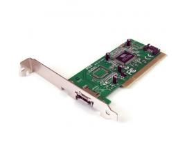 StarTech.com Tarjeta Adaptadora PCI 1 Puerto eSATA 1 Puerto SATA con Bracket de Perfil Bajo Low Profile - Imagen 1