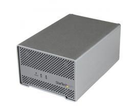 """StarTech.com Caja Thunderbolt con Cable - Carcasa Thunderbolt con Ventilador de 2 Bahías para Disco Duro de 2,5"""""""