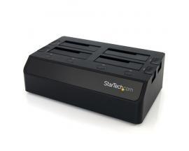 StarTech.com Base de Conexión USB 3.0 con 4 Bahías SATA 6Gbps de 2,5 y 3,5 Pulgadas - Docking Station para HDD SSD - Imagen 1