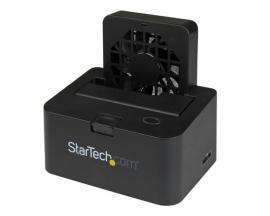 StarTech.com Base de Conexión Externa USB 3.0 UASP y eSATA con Ventilador para Disco Duro SATA III 6Gbps de 2,5 y 3,5 Pulgadas -