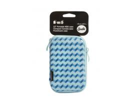 "Funda transporte smile para disco hdd 2.5"" blue geometric - Imagen 1"