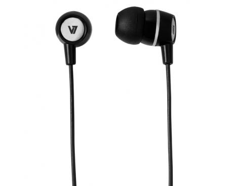 V7 Auriculares estéreo con micrófono incorporado - Negro - Imagen 1