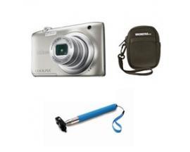 Camara nikon a100 plata 20.1 meg sensor ccd /5x /bateria/video hd/funda/palo selfie