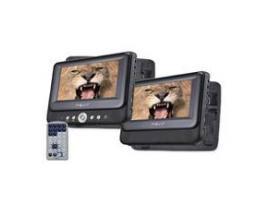 """Dvd portatil nevir 7"""" x2 nvr-2772dvd-pdcu negro usb - Imagen 1"""