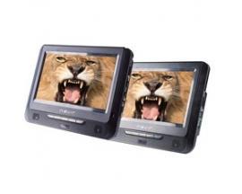 """Dvd portatil nevir 2 pantallas 7"""" lcd / usb / lector sd - Imagen 1"""