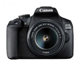 Camara digital reflex canon eos 2000d + 18-55 is/ cmos/ 24.1mp/ digic 4+/ full hd/ 9 puntos de referencia/ wifi/ nfc - Imagen 1