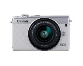 Camara digital reflex canon eos m100 + m15-45 s/ cmos/ 24.2mp/ digic 7/ full hd/ wifi/ nfc/ bluetooth/ blanco - Imagen 1