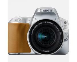 Camara digital reflex canon eos 200d + 18-55stm cmos/ 24.2mp/ digic 7/ 9 puntos de enfoque/ plata - Imagen 1