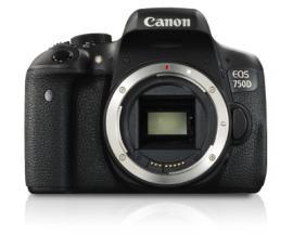 Camara digital reflex canon eos 750d body (solo cuerpo) cmos/ 24.2mp/ digic 6/ tactil - Imagen 1