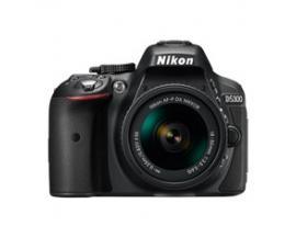 Camara reflex nikon d5300 afp 18-55 vr 24.2mp full hd wi-fi gps estuche + libro descarga - Imagen 1