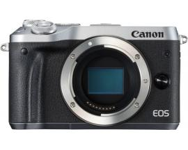 Camara digital reflex canon eos m6 body (solo cuerpo) cmos/ 24.2mp/ digic 7/ full hd/ wifi/ nfc/ bluetooth/ plata - Imagen 1