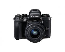 Camara digital reflex canon eos m5 + ef-m 15-45mm is stm/ cmos/ 24.2mp/ digic 7/ full hd/ wifi/ nfc/ bluetooth - Imagen 1