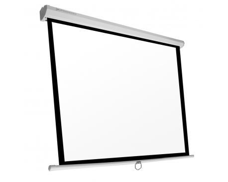 Pantalla manual videoproyector pared y techo phoenix 80´´ 1.4m x 1.4m ratio 1:1 / 16:9 / 4:3 posicion ajustable / carcasa blanc