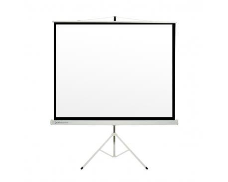 "Pantalla manual tripode videoproyector phoenix 80"" ratio 1:1 / 4:3 / 16:9 1.45m x 1.45m posicion ajustable / carcasa blanca /"
