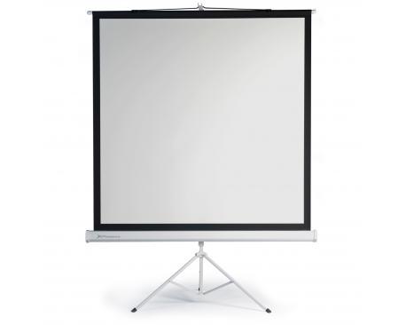 "Pantalla manual tripode videoproyector phoenix 112"" ratio 1:1 / 4:3 / 16:9 2m x 2m posicion ajustable / carcasa blanca / tela s"
