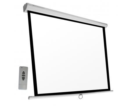 Pantalla electrica videoproyector pared y techo phoenix 112´´ ratio 1:1 / 4:3 / 16:9 2m x 2 m posicion ajustable / carcasa blan