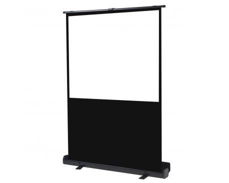"Pantalla manual portatil de suelo videoproyector phoenix 72"" ratio 4:3 / 16:9 1.45m x 1.10m posicion ajustable / carcasa negra"