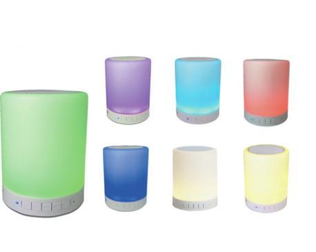 Altavoz bluetooth denver btl-30 efectos de luz 7 colores - Imagen 1