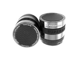 Mini altavoz con radio portatil phoenix phufotube+ bluetooth / micro sd / jack 3.5mm / metalico / aluminio / negro - Imagen 1